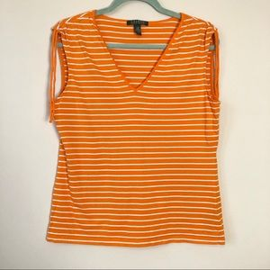 LRL Orange Striped Tank